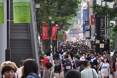 Weekend in Harajuku (Thorsten Reiprich) Tags: city summer people urban travelling japan shopping asia day traffic capital crowd shibuya    kanto packed tokio  honshu