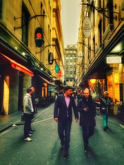 Melbourne Streets. (kensol72) Tags: street australia melbourne victoria iphone centreplace iphone6 snapseed iphone6plus