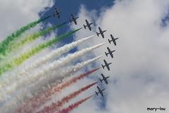 DSC_4608 (mary~lou) Tags: sky italy clouds speed italian nikon smoke nine fast planes colourful noisy freccetricolori maryfletcher 15challengeswinner mary~lou