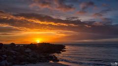 Wonderful colored sky (BraCom (Bram)) Tags: bracom sunset zonsondergang rocks rotsen sea zee cloud wolk beach strand surf branding breakwater golfbreker ouddorp goereeoverflakkee northsea noordzee zuidholland nederland southholland netherlands holland canoneos5dmkiii widescreen canon 169 canonef24105mm bramvanbroekhoven nl