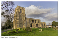 St Botolphs, Saxilby, Lincolnshire (Paul Simpson Photography) Tags: stbotolphs lincolnshire villagelife church villagechurch february2017 saxilby paulsimpsonphotography graves churchtower photoof photosof imagesof imageof grass nature villagesoflincolnshire bluesky clouds sonya77 churchphotography england englishchurch