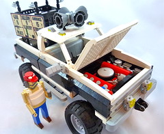 1984 Murica-Mobile (Lino M) Tags: 1984 george orwell murica pickup truck chevy c10 bad hombre alternate facts dystopian dystopia utopia utopian war ignorance slavery make america great again bigly lino martins lego lugnuts build challenge black white