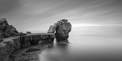 Pulpit (Rolie.K) Tags: bw blackandwhite longexposure le leefilter landscape rocks sea sky seascape nd neutraldensity ndfilters dorset portland pulpitrock fineart