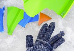 End of the season (rachel.roze) Tags: hanover february2017 snow sleds
