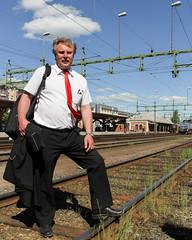 Peter 2010-06-03 (Michael Erhardsson) Tags: sj personal ombodpersonal ks bangård karlstad c 2010 sommar juni peter svensson
