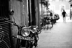 (fernando_gm) Tags: blackandwhite blancoynegro bw motorbike monochrome monocromo monocromatico moto street fujifilm fuji 35mm f14 madrid spain city people person persona gente