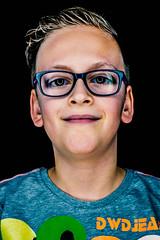 my nephew nick (relaxedhothead) Tags: apsc fuji xe2 jpeg lightroom photoshop raw ringlight ringleuchte xf 35 brille glasses junge boy