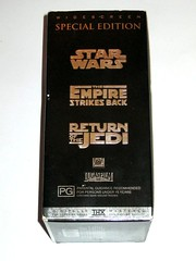 star wars original trilogy special edition 3 vhs video cassette set 1997 twentieth century fox home entertainment c (tjparkside) Tags: star wars 1997 special edition widescreen digitally mastered vhs video cassette cassettes original trilogy 3 set three lucasfilm 20th century fox ep episode 4 vi four new hope anh 5 v five tesb esb empire strikes back 6 six rotj return jedi twentieth home entertainment