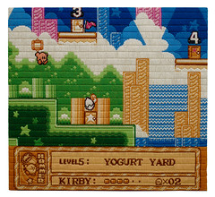 Kirby's Adventure (2009) (perfhager) Tags: perfhager steneprojects contemporaryart gaming craft needlepoint embroidery handmade 刺繍 ゲーム 美術 現代美術 クラフト ハンドメイド アート