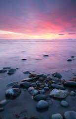A Fairbourne Sunset (Howie Mudge) Tags: sunset sea sky beach wales clouds sand nikon rocks ngc cymru pebbles goldenhour gwynedd fairbourne sigma1020mm d7100 hitechreversegrad howiemudge2013
