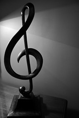 Treble Clef (kmitchell11) Tags: white black silhouette clef treble