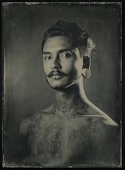 Wet Plate Collodion (oscar sanhueza) Tags: portrait man wet photography plate retratos fotografia humedo collodion colodion