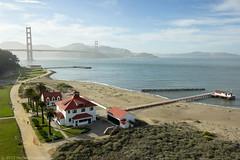 Headquarters, Gulf of the Farallones National Marine Sanctuary (Michael Layefsky) Tags: sanfrancisco california headquarters aerial goldengatebridge photograph sanfranciscobay kap noaa kiteaerialphotography visitorcenter crissyfield gulfofthefarallonesnationalmarinesantuary