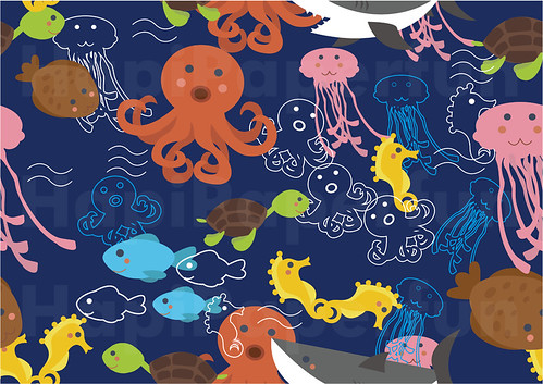 MD049 - Seamless Background Pattern of Sea Animals