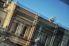 DSC_0001 [ps] - Seismographic View (Anyhoo) Tags: urban distortion reflection brick glass architecture facade terrace echo victorian australia melbourne victoria double richmond vic pediment faade repeat cornice bridgeroad anyhoo photobyanyhoo