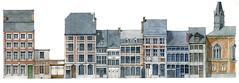Liège, Hors-Château (gerard michel) Tags: architecture belgium aquarelle dessin watercolour rue liège élévation