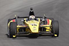 Graham Rahal exits Turn 3 at Pocono Raceway (IndyCar Series) Tags: grahamrahal cameracanoneos1dmarkiv isospeedrating400 meteringmode5 exposure12000 fnumber7110 rahallettermanlaniganracing focallength5001 poconoindycar400