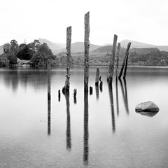Derwentwater (Mark Rowell) Tags: uk bw 120 film zeiss mediumformat square landscape lakedistrict hasselblad derwentwater 60mm ilford fp4 keswick 500cm 110nd