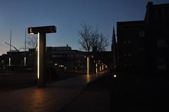 Street art (Luc Wiltschut) Tags: street city winter light sky holland art netherlands night dark licht nacht kunst nederland eindhoven lucht stad donker straat kunstwerk stadhuisplein
