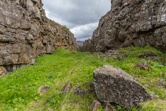 Walking between continents (USpecks_Photography) Tags: lake canon landscape iceland rocks geography geology volcanic thingvellir continentaldivide pingvellir canonefs1022mmf3545usm canonefs1022 canon7d