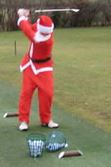 002 - Father Christmas looks a little shut at the top! (Neville Wootton Photography) Tags: golf humour fatherchristmas canonixus70 stmelliongolfclub nevillewootton martynhunkin mensgolfsection 2010golfseason redhedzrollupxmastrophy