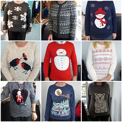 Christmas jumper lunch (dawn.v) Tags: christmas uk winter england fashion collage fun fdsflickrtoys funny december mosaic clothes trends dorset laugh bournemouth jumpers christmasjumpers lumixtz25 113picturesin2013 113picturesin2013project christmasjumperlunch