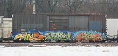 Hooks/Irony/Enue (quiet-silence) Tags: railroad art train graffiti railcar irony boxcar graff fc cod freight hooks nsf fr8 endtoend e2e enue sirx sirx100147
