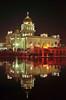 Gurdwara Bangla Sahib (ArvinderSP) Tags: water night reflections temple lights nikon shot sikh gurdwara newdelhi 498 2013 arvinder banglasahib nikon28105f3545d nikond7000 arvindersp