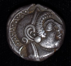 Early fifth century tetradrachm, obverse (Rob Sing) Tags: silver coins obverse athenian tetradrachm earlyfifthcentury
