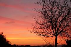 Un cielo a righe (Anfora di Cristallo) Tags: sunset nuvole cielo tramonti sole colori sera