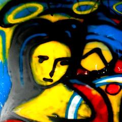 la belle du jour (Bim Bom) Tags: portrait woman streetart colorful belgium spray liège wallonia