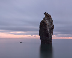 Copper Coast Sea Stack (Graham Daly Photography (ASINWP)) Tags: longexposure ireland sunset beach seascapes waterford seastack coppercoast ballydowane ballydwan