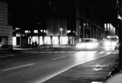 6 (ElMariuolo) Tags: street white black film lights movement strada e movimento luci van bianco nero rullino furgoncino panview