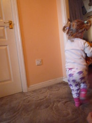 ive had enough of this picture taking now (Ambernectar 13) Tags: morning child evelyn january running tuesday evie essex 2yearsold chelmsford 2014