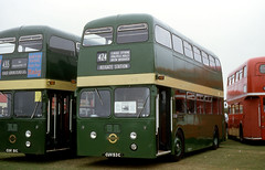cambs - lte preserved xf3 duxford 9-96 JL (johnmightycat1) Tags: bus london daimler fleetline showbus