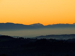 sunset with the fog (Imad Z. ) Tags: sunset italy nature fog clouds zeiss italia foto photographer sony natura architect carl imad iraqi flicker fotografo   architetto     iracheno zebala
