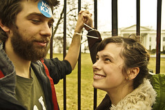 Couple Zip Ties Their Hands to White House Fence (Light Brigading) Tags: street fence march dc washington whitehouse rally police captain planet johnkerry xl civildisobedience climatechange secretservice dissent ziptie arrests georgetownuniversity secretaryofstate handcuffed tarsands olb presidentobama keystonexl nokxl occupyriverwest overpasslightbrigade micats xldissent
