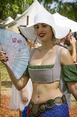 Fan Masala Dancer (Burnt Umber) Tags: woman sexy beach girl female digital chica pentax florida babe chick lass pirate deerfield brunette k5 2014 floridarenaissancefestival allrightsreserved tamronsp24135mmf3556 rpilla001