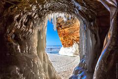 A Cave's Eye View (Boreal Bird) Tags: winter ice window frozen amazing lakesuperior icicles apostleislands icecaves aintnaturegrand apostleislandsnationalseashore maryamerman