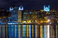 St. Johns Waterfront At Night (Steven Crummey) Tags: newfoundland waterfront stjohns nighttime canon100mm28
