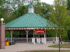 Circus World Carousel House. (dccradio) Tags: trees horses horse tree history museum wisconsin fence fun circus jenny carousel gazebo entertainment walkway historical greenery merrygoround wi wisconsindells themepark pathway dells attraction baraboo mgr circusworld ringlingbrothers oldcarousel circusworldmuseum vintagecarousel oldmerrygoround vintagemerrygoround