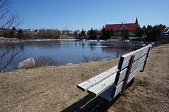 Pond Bench (XCHarrisonX) Tags: bench pond empty seat passage eastern