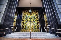Gilded Doors at Alhambra Circle (lfviolin) Tags: coral architecture circle nikon doors miami tokina alhambra gables gilded hdr 1116mm