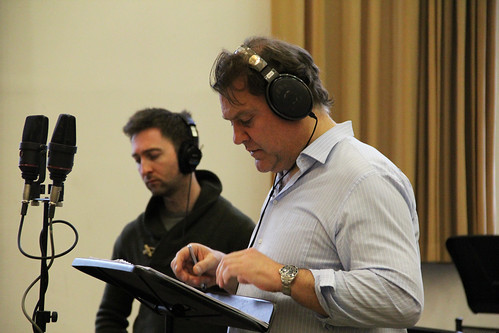 Gallery: Bryn Terfel recording the voice of Méphistophélès for The Crackle