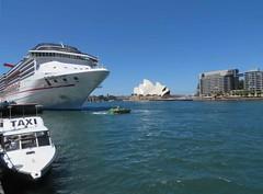 Circular Quay (Corinneski) Tags: cruise water ships sydney australia circularquay taxis newsouthwales ferries sydneyharbour sydneyoperahouse carnivalspirit