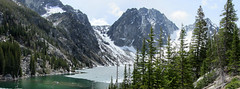 ColchuckLake_pan2 (Aubrey Sun) Tags: lake washington north peak glacier cascades wa dragontail colchuck