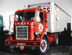 MACK H - 1950's (gdmey) Tags: truck colorized mack coe vintagetruck