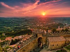 san marino (sandilesmana28) Tags: landscape republic san marino sunset