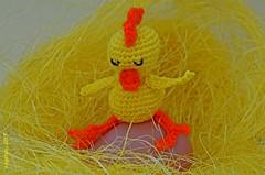 ...Waiting for his brother... (cegefoto (temporarily less active)) Tags: macromondays egg macro tamron90mm haakwerk crochet kuiken chicken poult uitbroeden ei hookno8