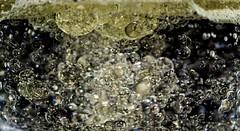 Bubbles (dragonfly7575) Tags: macrophotography bubbles yellow rainbow glisten fizzy lemonade oil